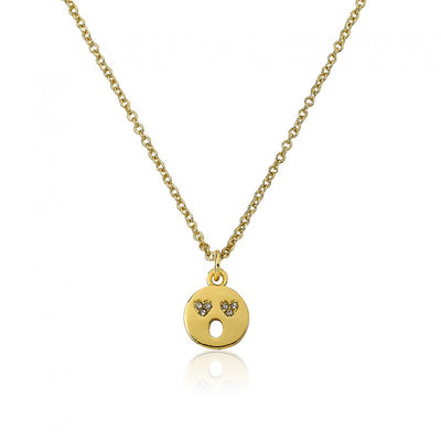 Twin Stars Happy Hour Smiley Face Pendant Necklace