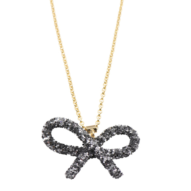 Tilyon Glitter Bow Necklace