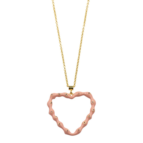 Tilyon Large Bumpy Heart Necklace
