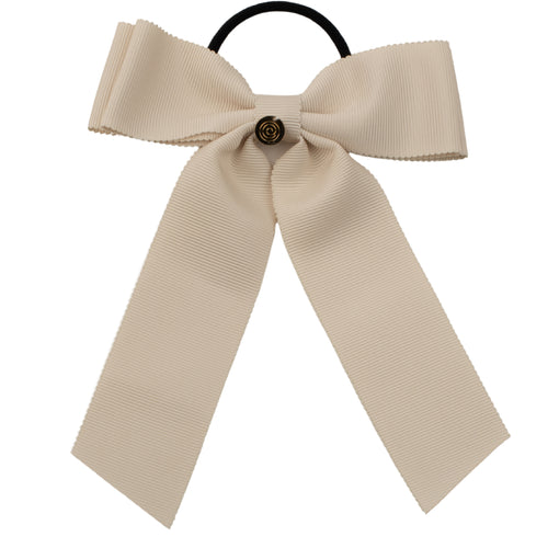 Cherie Grosgrain Double Layer Bow Pony