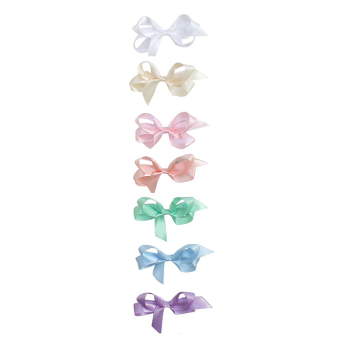Satin Bow Pastel Colors