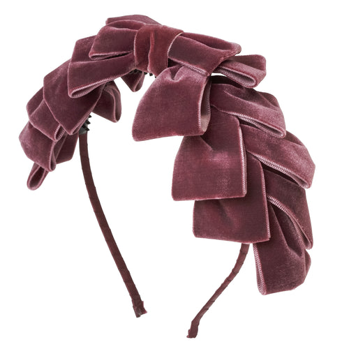 Project 6 NY Pleated Ribbon Velvet Headband