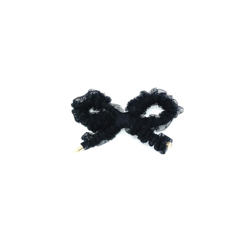 Bandeau Ruched Bow Tulle Clips