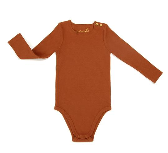 Mouche Kids Ribbed Button Onesie
