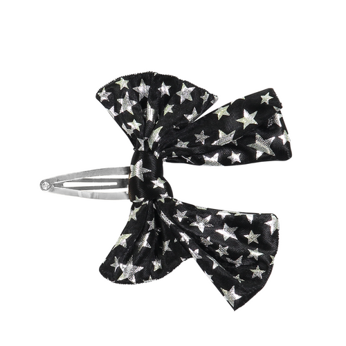 DaCée Designs Leather Printed Bow Snap Clip