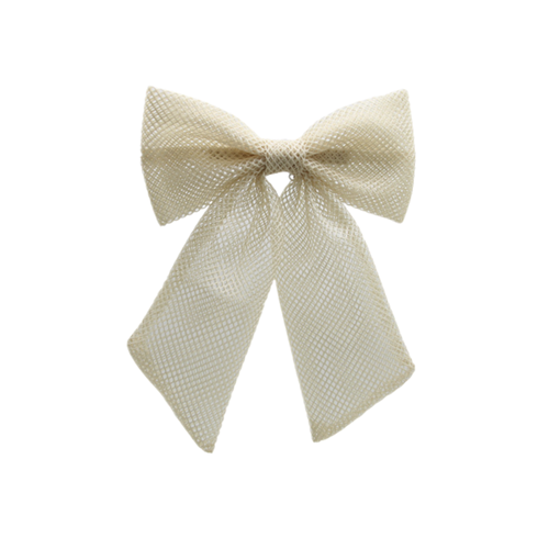 Bandeau Netting Oversized Bow Clip