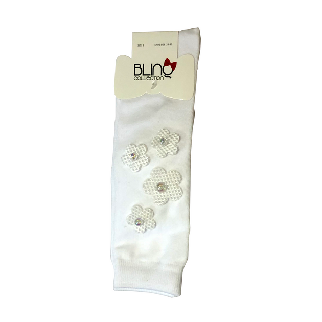 Blinq Collection Scuba Flowers Knee High Sock