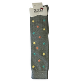 Blinq Collection Ribbed Multi Color Stars Knee High Sock