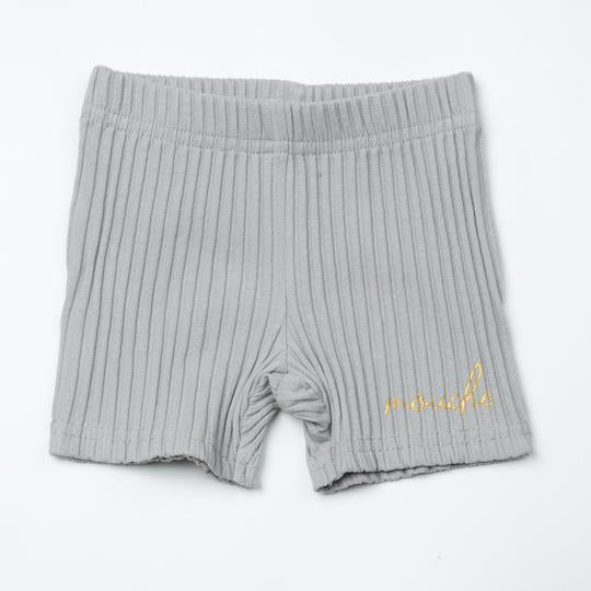 Mouche Kids Wide Ribbed Shorts