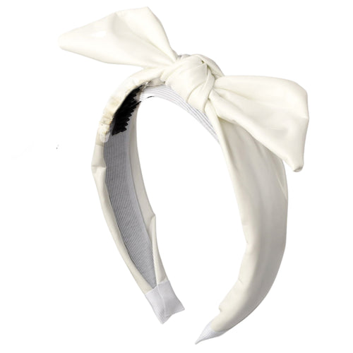 Cherie Patent Leather Puffy Knot Headband