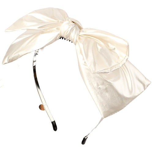 Cherie Leather Double Layer Bow Headband