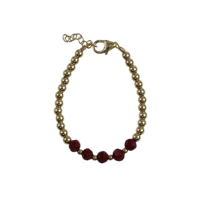 Crystal Dream Red Center Crystals Bracelet