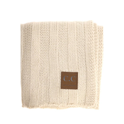 CC Exclusive Wide Rib Knit Scarf