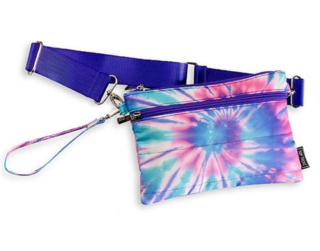 Top Trenz Tie Dye Spiral Belt Bag