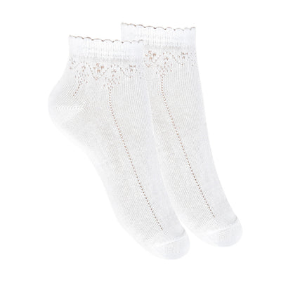 Condor Dressy Textured Scallop Edge Anklet Sock - 2777/4