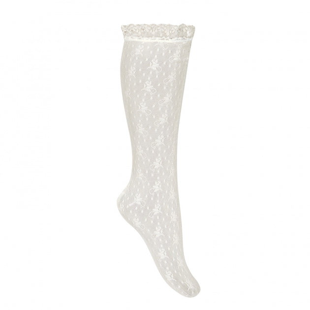 Condor Floral Designed Lace Knee High Sock - 4502/2