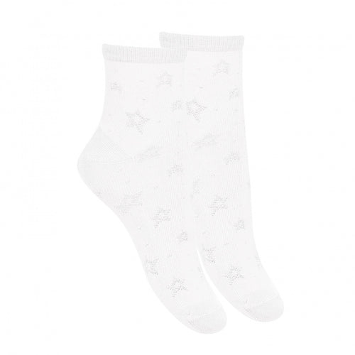 Condor Dressy Anklet Sock with Stars - 2705/4