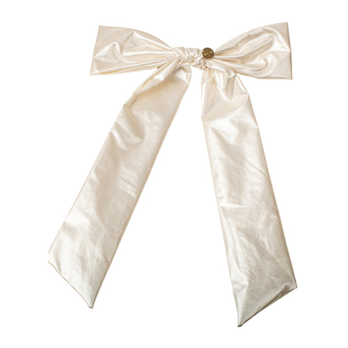 Cherie Light Leather Bow with Long Ties