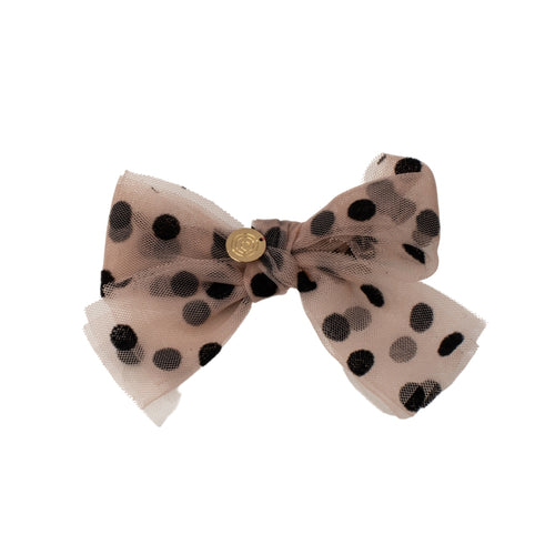 Cherie Dotted Tulle Bow Clip
