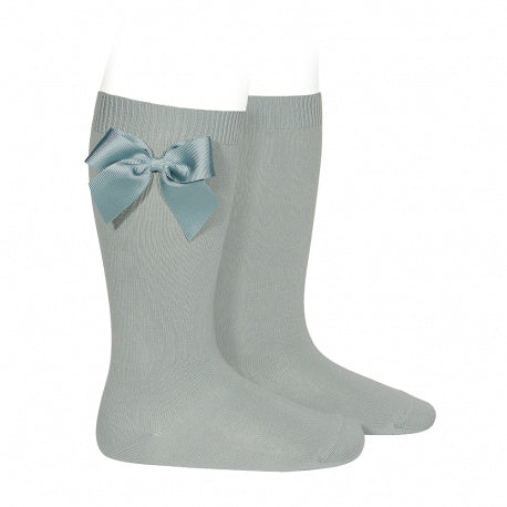 Condor Knee High Sock with Grosgrain Bow - 2482/2