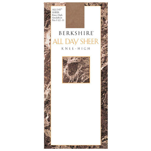 Berkshire All Day Sheer Knee High - Sandalfoot