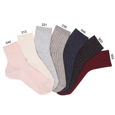 Condor Lurex Ribbed Crew Sock