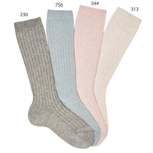 Condor Lurex Ribbed Knee High Sock - 3220/2
