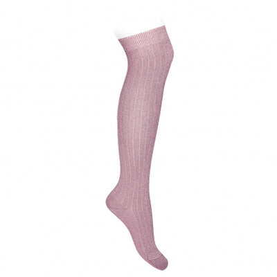 Condor Lurex Ribbed Over the Knee High Sock - 3220/8