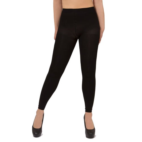 Memoi Opaque Control Top Footless Tights - MO 343