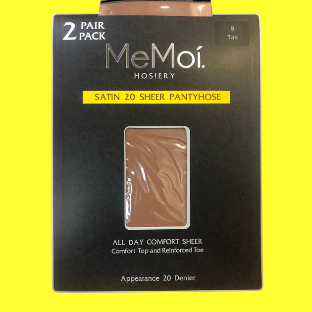 Memoi Sheer Satin 20 Sheer 2 Pairs Pantyhose - MS 650