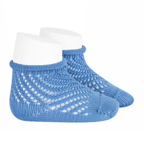 Condor Net Crochet Anklet Sock with Rolled Cuff - 2508/4