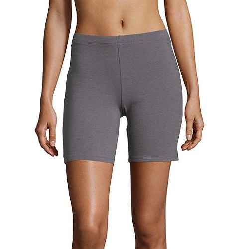 Hanes Women's Stretch Cotton Jersey Bike Shorts
