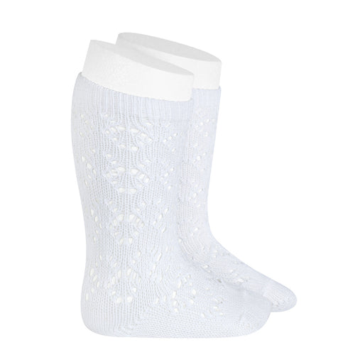 Condor Diamond Patterned Crochet Knee High Sock - 2507/2