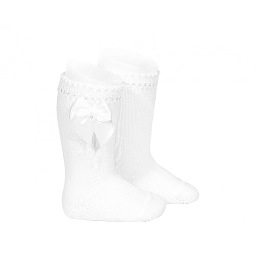Condor Perle Knee High Sock with Bow - 2551/2