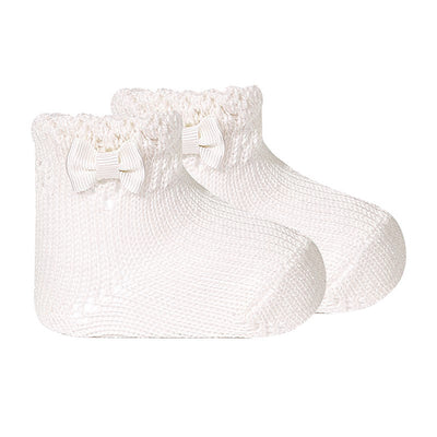 Condor Heavy Crochet Sock with Bow