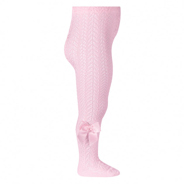 Condor Full Crochet Tights with Grosgrain Bow - 2530/1