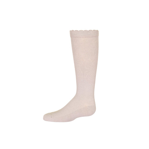 JRP Scallop Piquet Knee High Sock