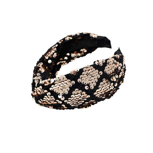 Bandeau Sequin Twist Headband