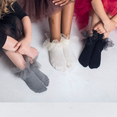 Blinq Collection Shimmer Tutu Anklet Sock