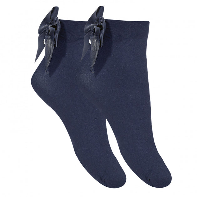 Condor Sheer Sock with Bow and Pearls - 4409/4