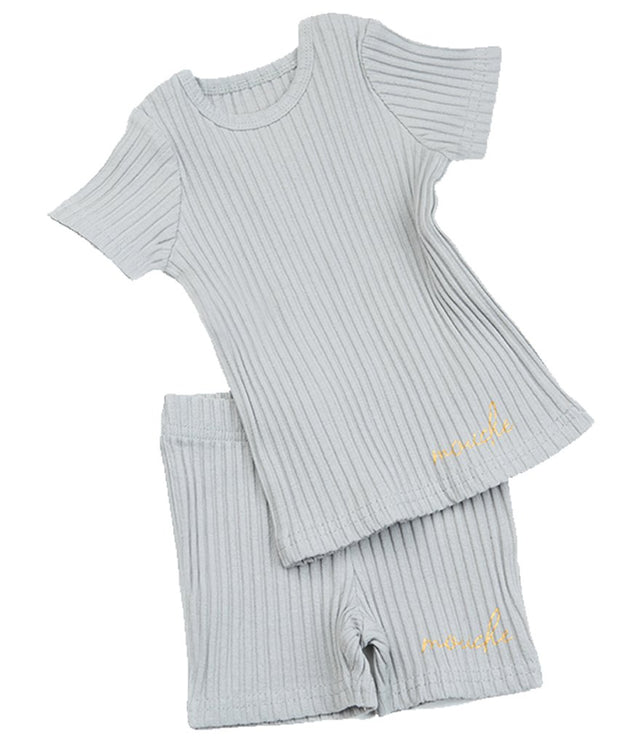 Mouche Kids Wide Ribbed 2 Piece Set