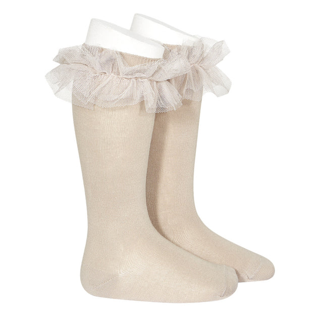 Condor Tulle Frill Knee High Sock