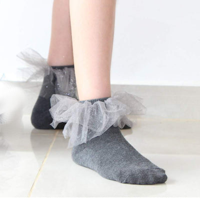 Blinq Collection Star Tulle Anklet Sock