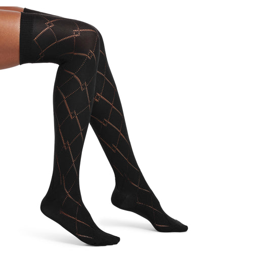 HUE Openwork Over the Knee Sock