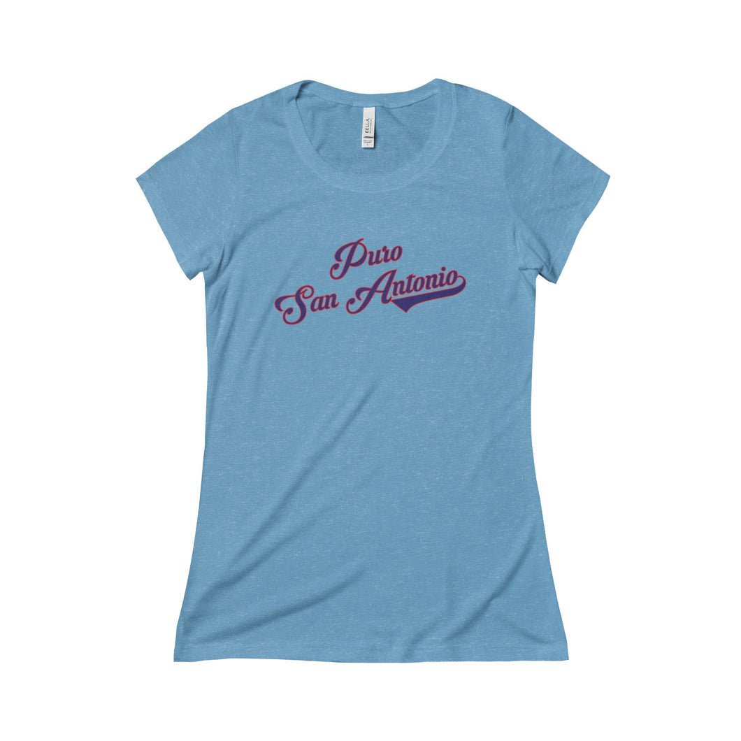 Puro San Antonio Script Ladies Slim T-Shirt