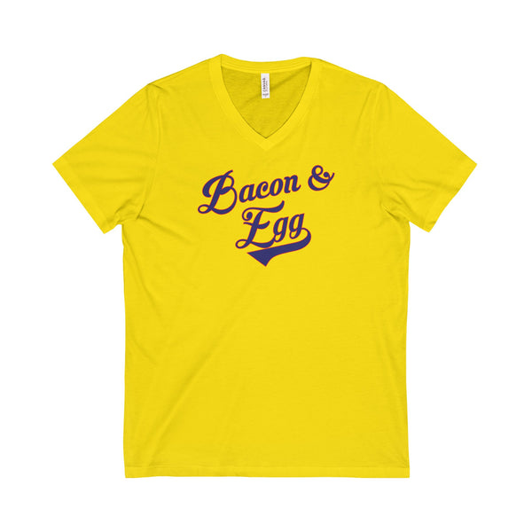 Bacon & Egg Unisex V-Neck T-Shirt
