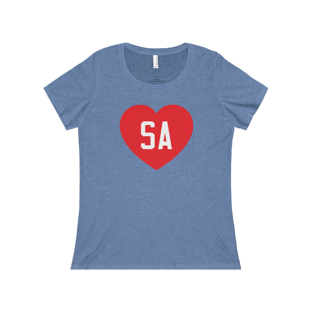 We Love SA Ladies Relaxed T-Shirt (Red/White)