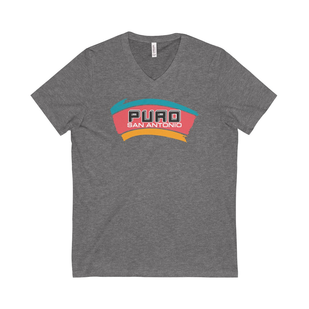 Puro San Antonio Logo Unisex V-Neck T-Shirt (Limited Edition)