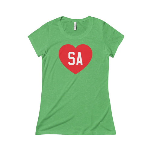 We Love SA Ladies Slim T-Shirt (Red/White)