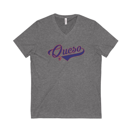 Queso Unisex V-Neck T-Shirt